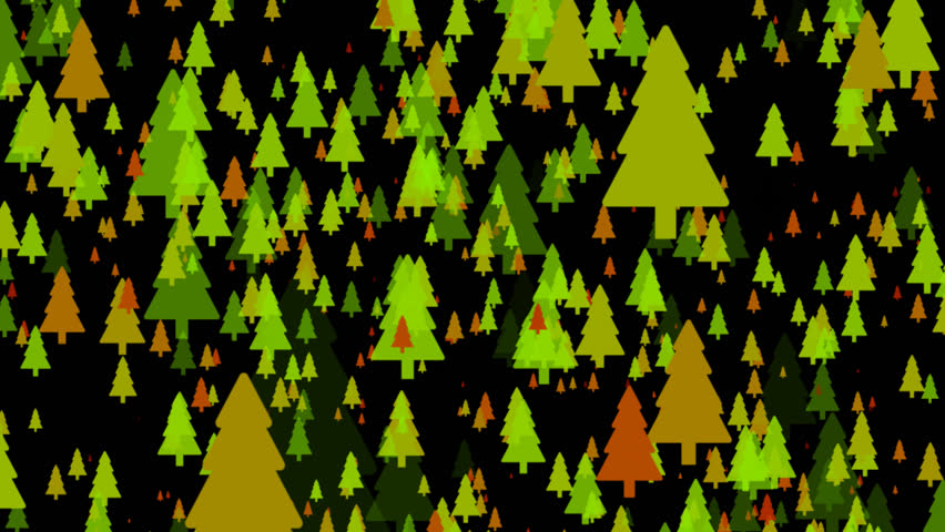 Christmas trees flat icons animated background with transparency alpha channel | Shutterstock HD Video #23210662