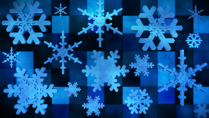 Broadcast Spinning Hi-Tech Snow Flakes, Background is Seamlessly Loopable. | Shutterstock HD Video #23309509