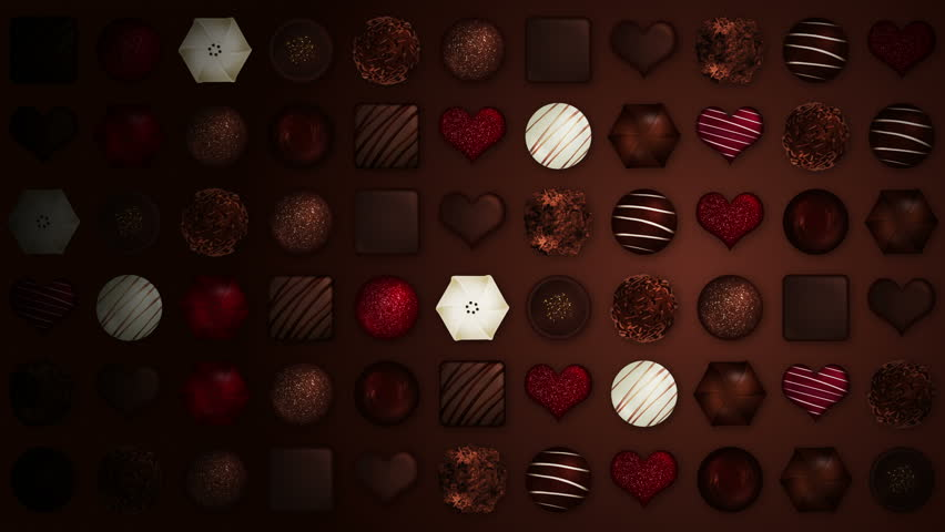 Valentine's day, An assortment of fine chocolates, Loop   Shutterstock HD Video #23388115