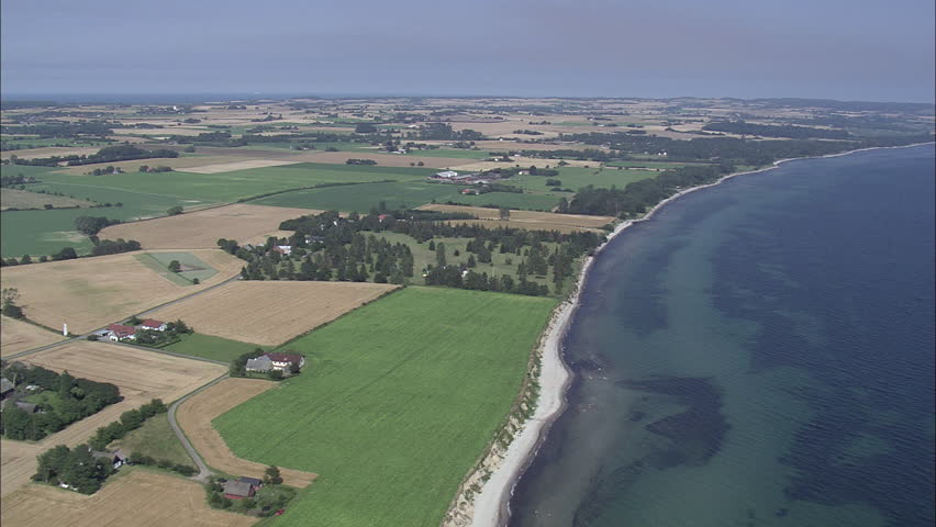 Farms And Coast Around Hjelm Bay | Shutterstock HD Video #23661877
