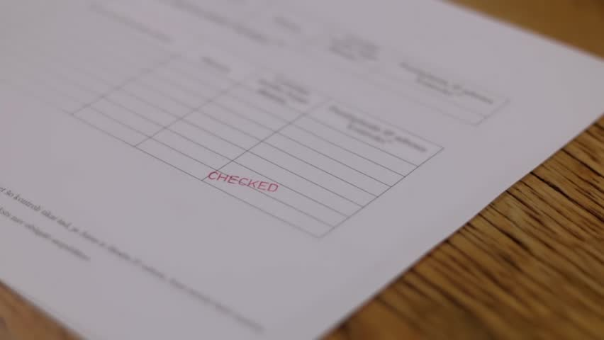 Checked stamp stamping document stamp   Shutterstock HD Video #23736748