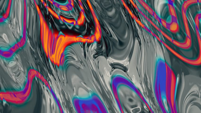 Psychedelic ice abstract background