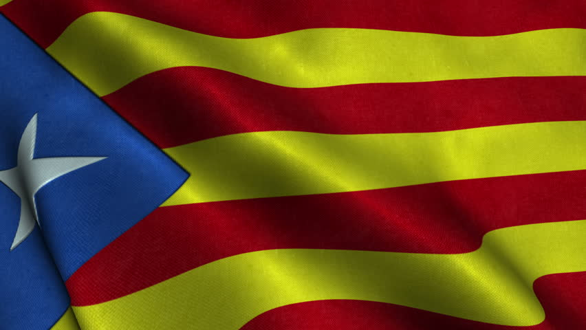 Catalonia's independence flag waving on the wind | Shutterstock HD Video #24007819