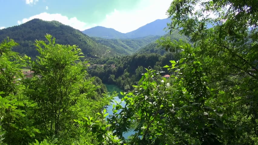 Beautiful view of the lake in the woods, Bosnia and Herzegovina, on June 30, 2015  | Shutterstock HD Video #24030652