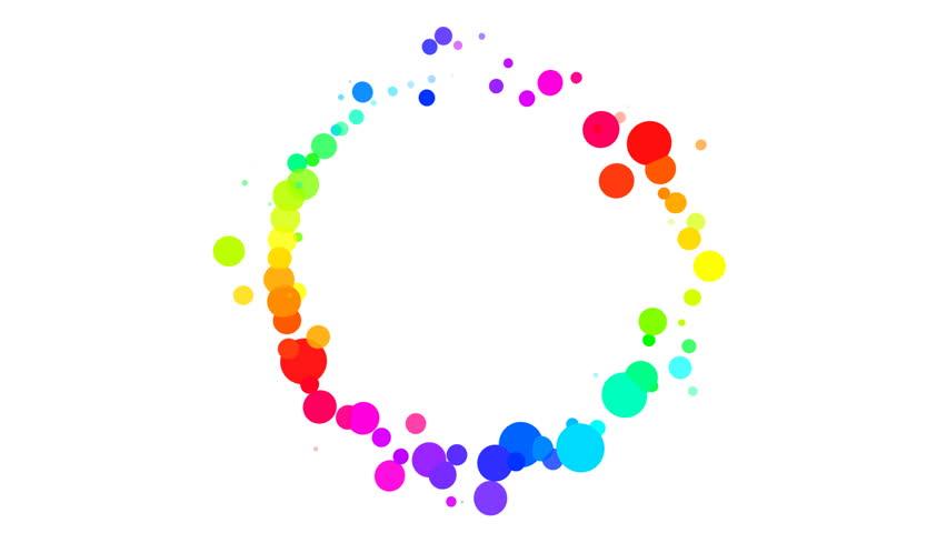Colorful Dot Circle.