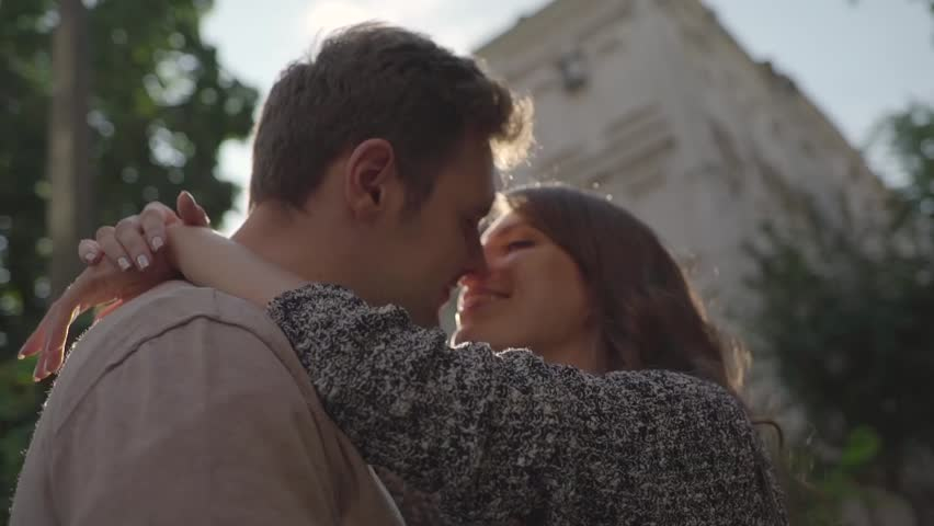 Couple kissing in the city. | Shutterstock HD Video #24102760