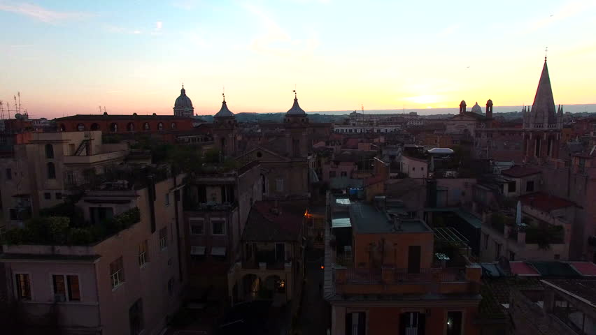Rome skyline, Italy aerial drone. About capital, art, Margutta, eternal city, ancient Rome, dome, coliseum | Shutterstock HD Video #24107089
