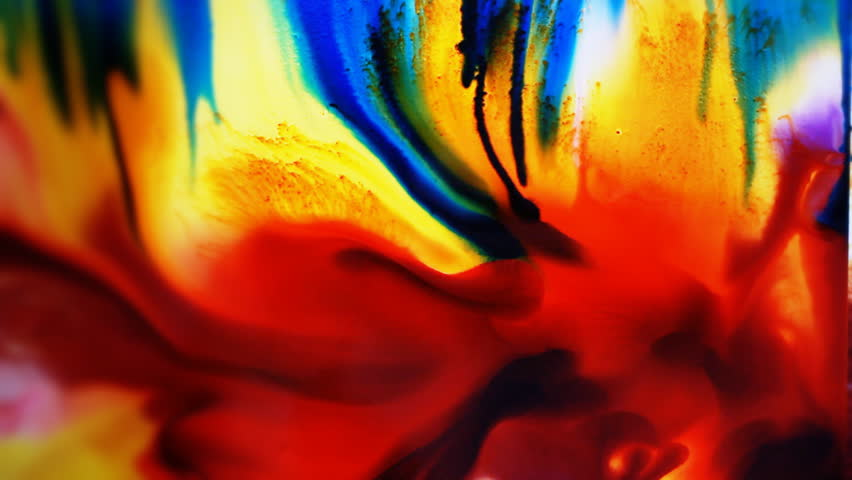 Artist in her art studio paint brushes and ink paintings | Shutterstock HD Video #24113155