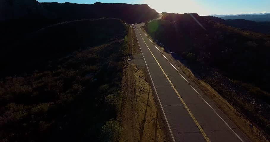 Aerial Drone Following A Country Road 4k 24 Fps | Shutterstock HD Video #24115963