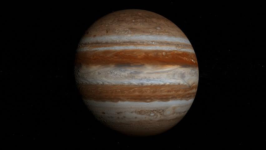 Planet Jupiter orbiting, looped, solar system, 3D animation, alpha | Shutterstock HD Video #24119536