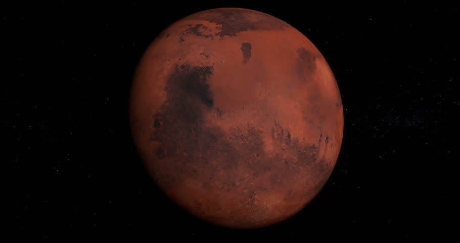 Planet Mars orbiting in 4K, looped, solar system, 3D animation, alpha | Shutterstock HD Video #24119545