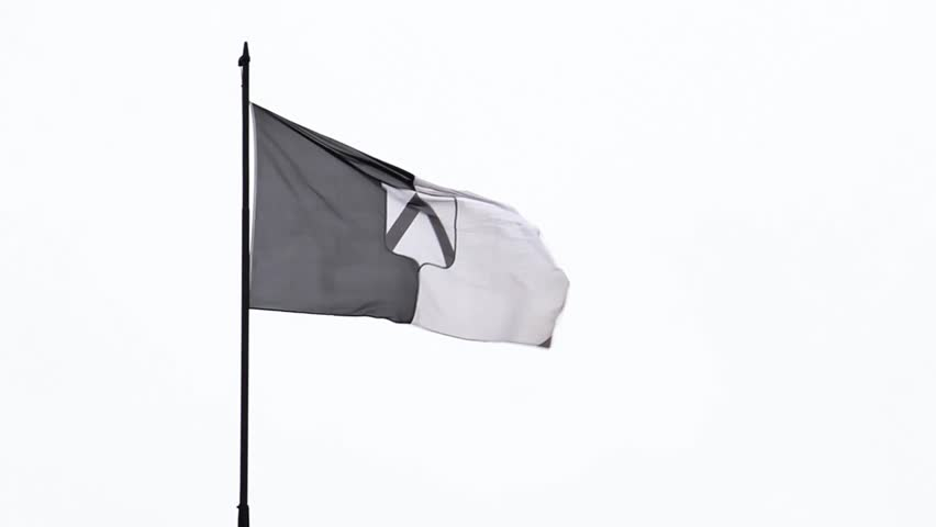 Flag of udine on white background, the object is waving for the wind | Shutterstock HD Video #24126718