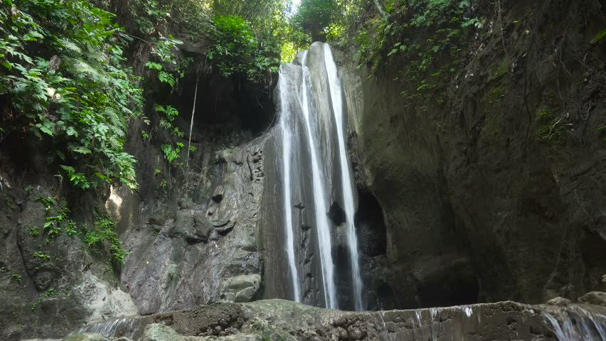 Tropical rain forest with waterfall. Philippines, Cebu. 4K video. Travel concept.   Shutterstock HD Video #24130948