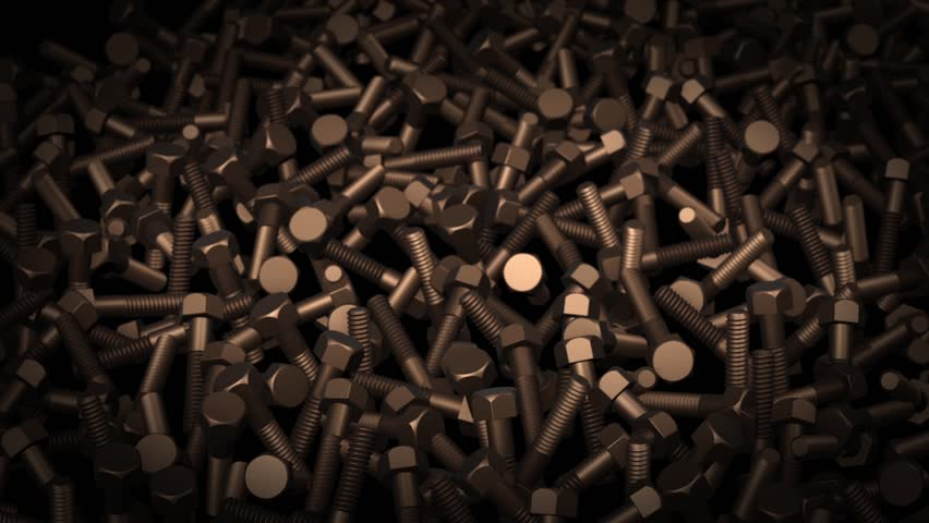Abstract background animation of dark metal bolts | Shutterstock HD Video #24143017
