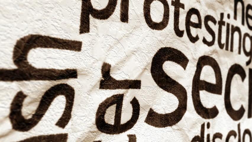 Secret text on grunge paper | Shutterstock HD Video #24157606
