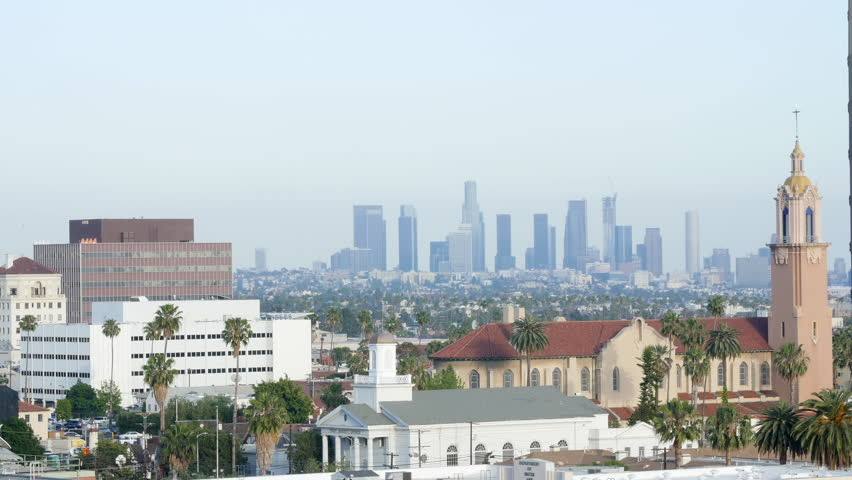 Los Angeles America skyline daytime- May 4th 2016 | Shutterstock HD Video #24164932