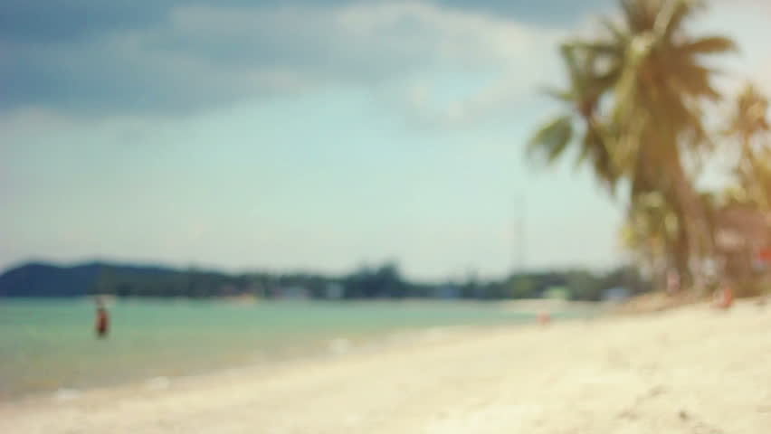Defocused shot of the tropical beach in slow motion | Shutterstock HD Video #24167767