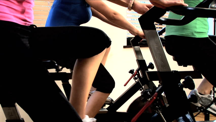 Exercising at the gym - HD stock video clip