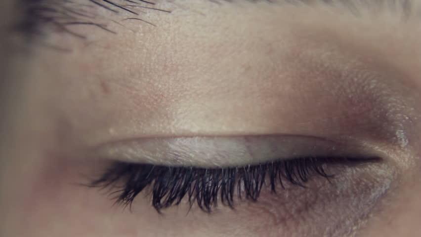Open eye macro shot