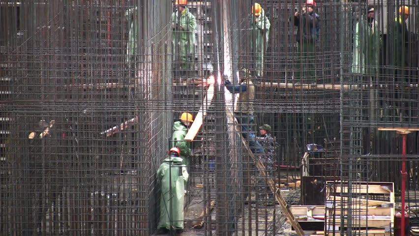 reinforcement construction  - HD stock video clip