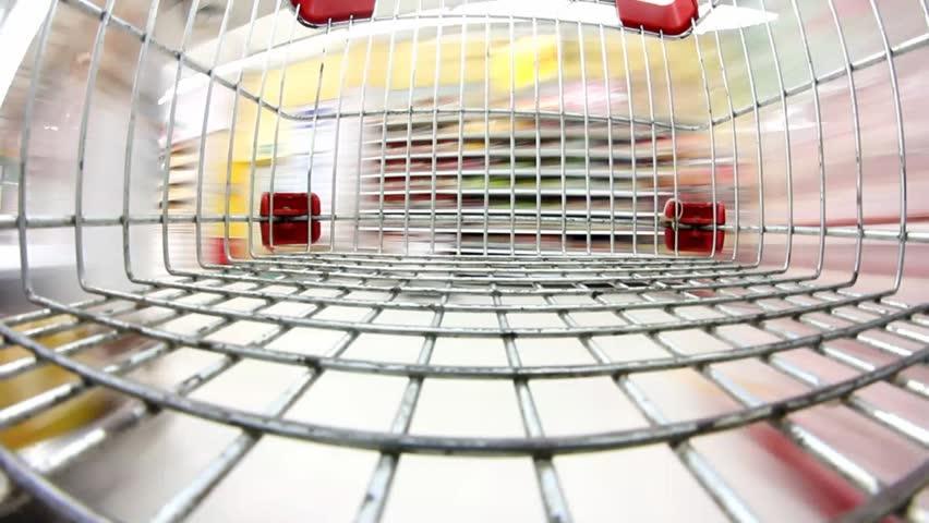 supermarket shopping time lapse shopping trolley