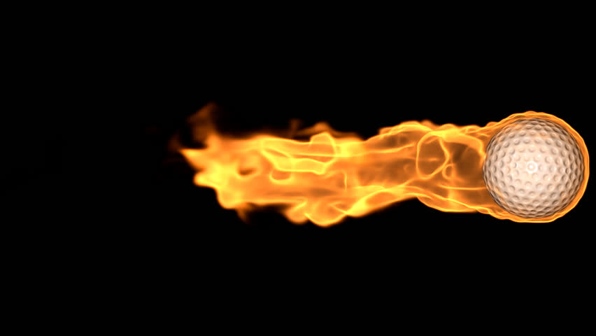 golf ball on fire stock footage video 2571734 shutterstock