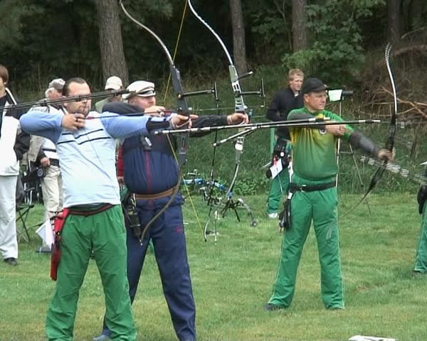 14 October, 2008. Sports competitions for archery. Athletes compete for the title of the label Athlete of the Baltic States.