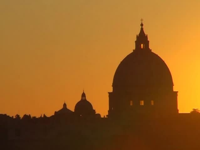 vatican sunset - SD stock footage clip