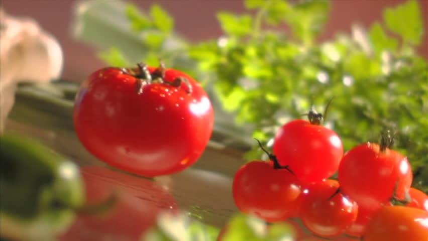 Fresh Tomatos - HD stock footage clip