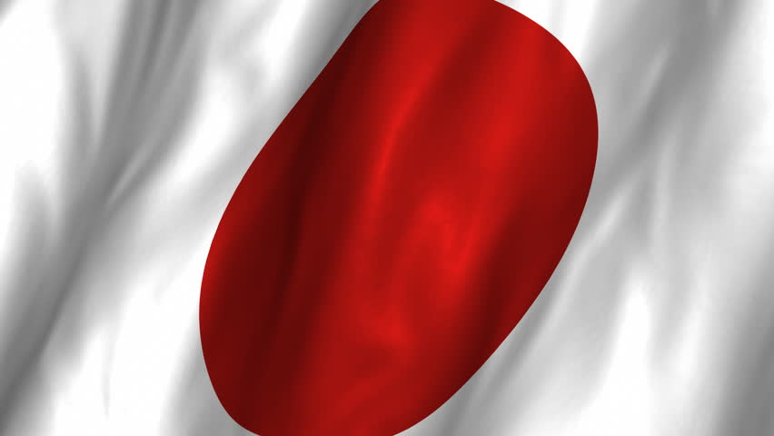 A beautiful satin finish looping flag animation of Japan.     A fully digital rendering using the official flag design in a waving, full frame composition.  The animation loops at 10 seconds.   - HD stock footage clip