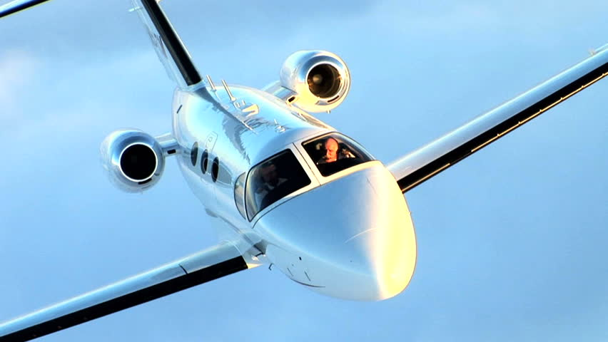 Corporate travel in a jet