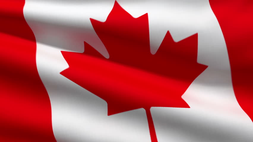 Canadian Flag, 3d Animation. Perfect Seamless Loop Stock ...