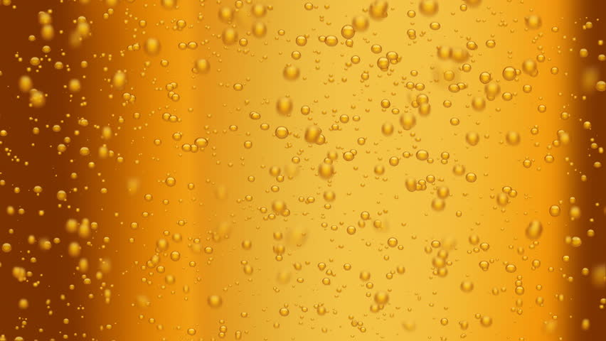 beer bubbles (seamless loop) - HD stock video clip