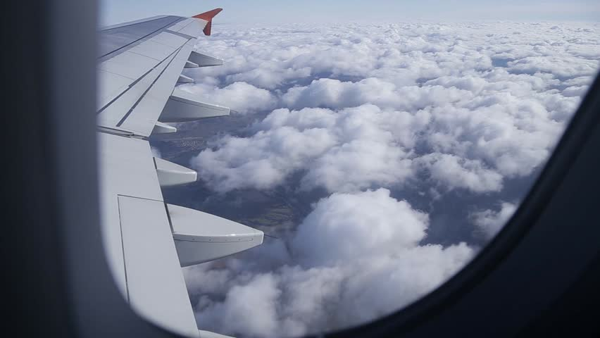 aircraft Wing in a window #26771548