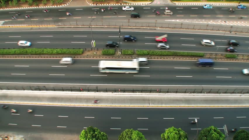 urban traffic high angle - HD stock video clip