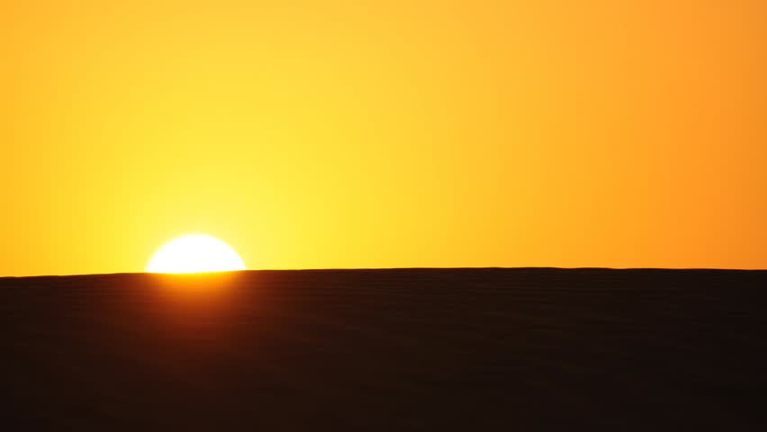 sunrise in the desert, india - HD stock footage clip