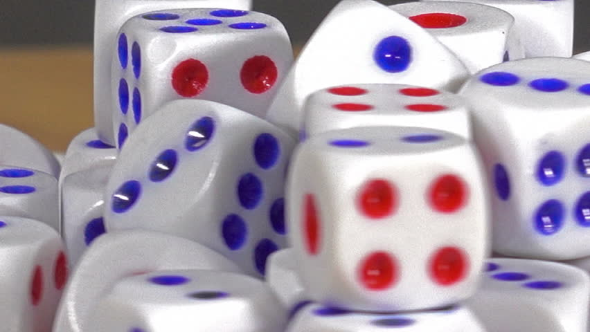 Closeup Many dice is rotating show. | Shutterstock HD Video #27038182