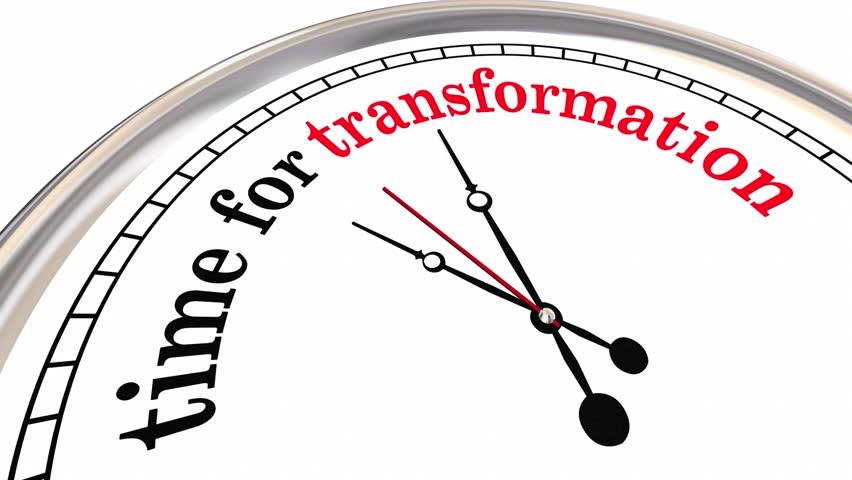 Time for Transformation Evolution Change Clock 3d Animation #27123943