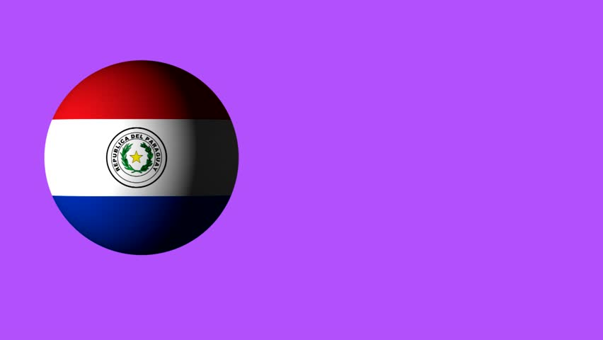Roll the ball with the flag of Paraguay, the ball casts a shadow. design for web sites. use for sporting and advertising purposes. there are flags of all the countries in the portfolio. 3D roll | Shutterstock HD Video #27151231