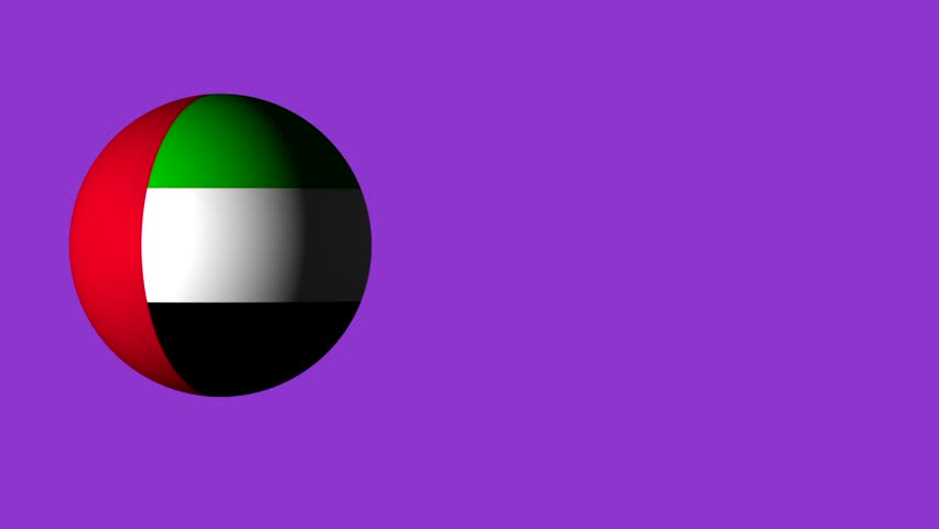 Roll the ball with the flag of UAE, the ball casts a shadow. design for web sites. use for sporting and advertising purposes. there are flags of all the countries in the portfolio. 3D roll | Shutterstock HD Video #27151240