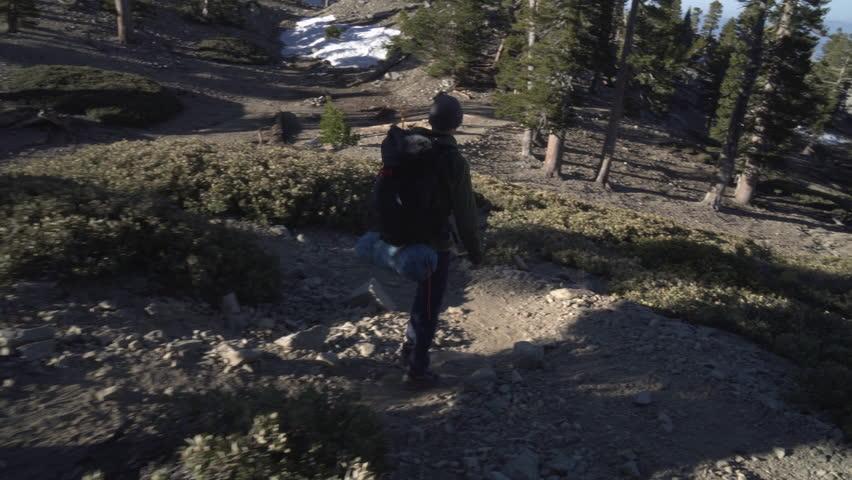 Hiker alone backpacking in the wilderness | Shutterstock HD Video #27193756