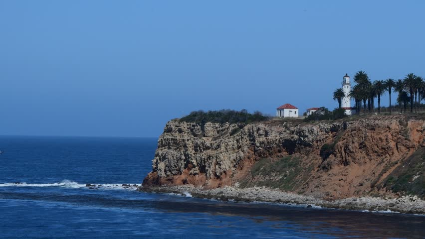 Point Vincente Lighthouse and ocean Rancho Palos Verdes, Ca.  | Shutterstock HD Video #27196834