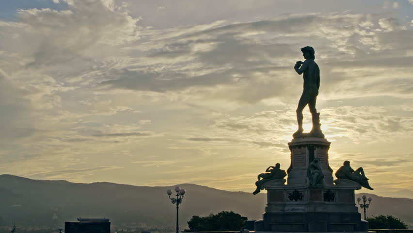 David by Michelangelo in bronze, Florence Tuscany Italy | Shutterstock HD Video #27211999