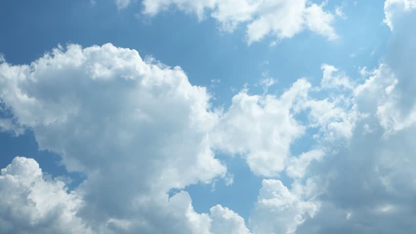 White clouds run against the blue spring sky    | Shutterstock HD Video #27239107