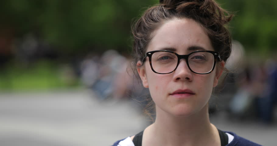 Caucasian woman in city park face portrait | Shutterstock HD Video #27248791