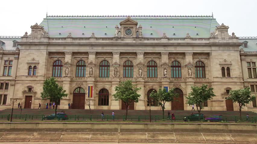 The palace of justice in bucharest romania 19th century - Romanian architectural styles ...