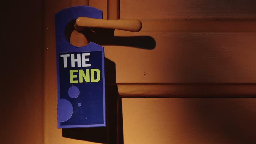 Door sign - The End