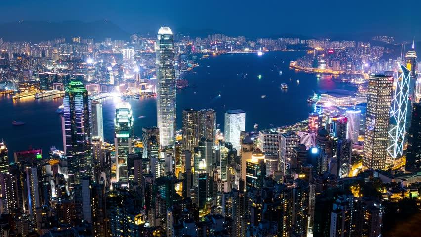 The peak, Hong Kong, 29 May 2017 -: Time lapse of Hong Kong cityscape | Shutterstock HD Video #27740092