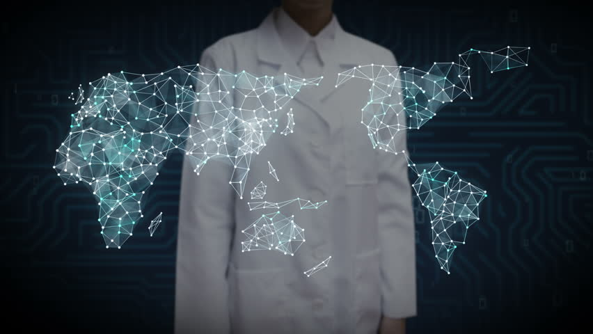 Female Scientist, engineer touching screen, Car internet of things technology icon connect global world map, dots makes world map. internet of things. | Shutterstock HD Video #27742387