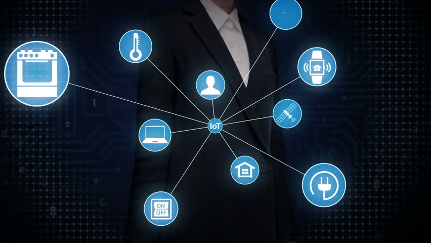 Businesswoman touching screen, IoT technology connect global world map. dots makes world map, internet of things. | Shutterstock HD Video #27780709